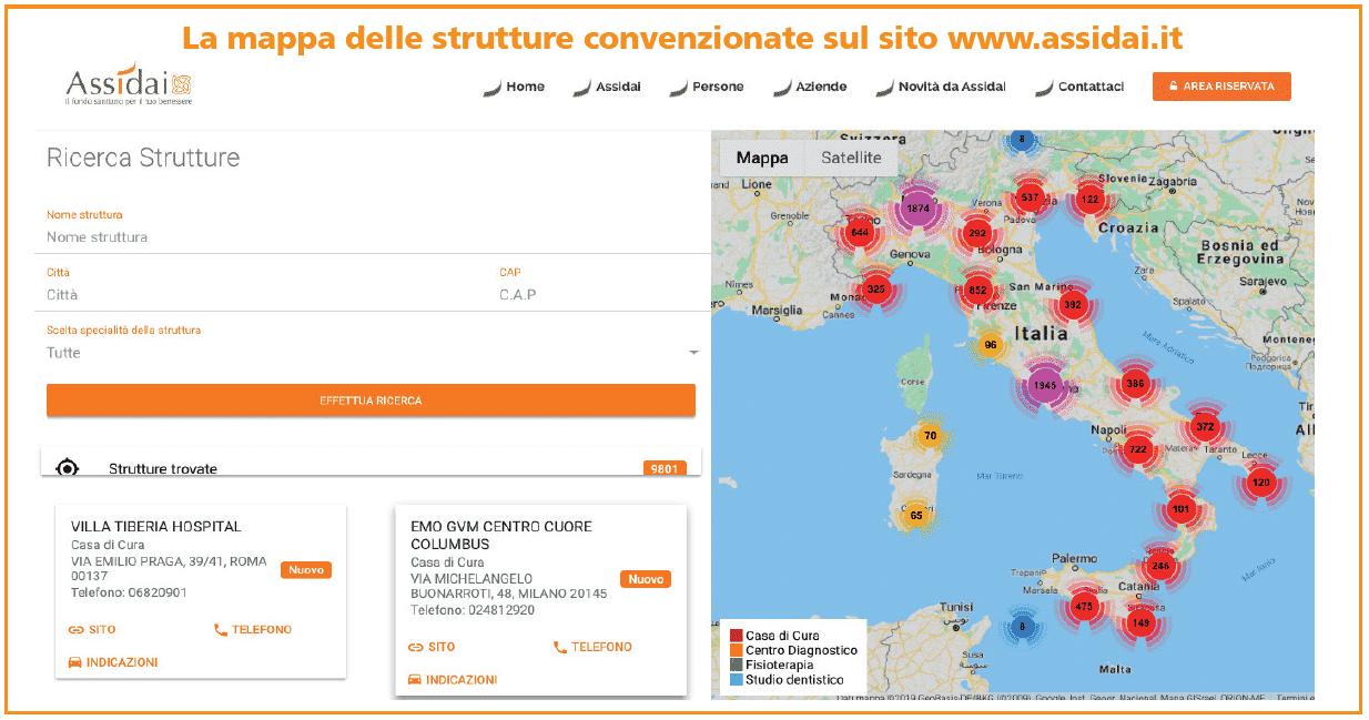 mappa convenzioni assidai